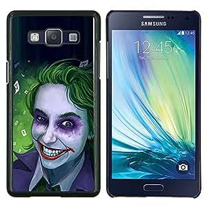 LECELL--Funda protectora / Cubierta / Piel For Samsung Galaxy A5 A5000 -- Zombie Art Blue Eyes espeluznante sonrisa verde --