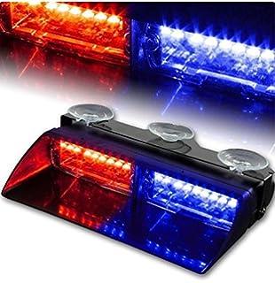 Amazon 18 x ultra bright blue and red led emergency warning use xt auto car 16 led 18 flashing mode emergency vehicle dash warning strobe flash light aloadofball Choice Image