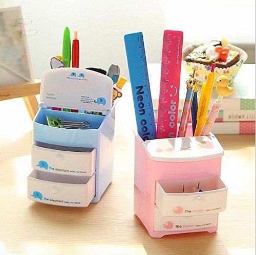 Cute Cartoon Desk Organizer Desktop Pen Pencil Holder Storage Box Storage Drawer