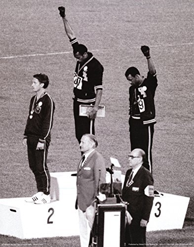Black Power Tommie Smith & John Carlos, Olympics, 1968 Photo Print Poster by Revolution