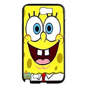 Samsung Galaxy Note 2 Case Spongebob Squarepants Cute, Sexyass, [Black]
