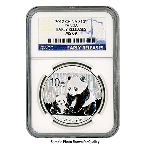 2012 CN Chinese Silver 1oz Panda 10Yn MS69 NGC Early Releases