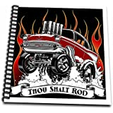 Mark Grace HOT RODS - live to rod - Street rodder blasting through flames and popping wheelies - Memory Book 12... sale 2017