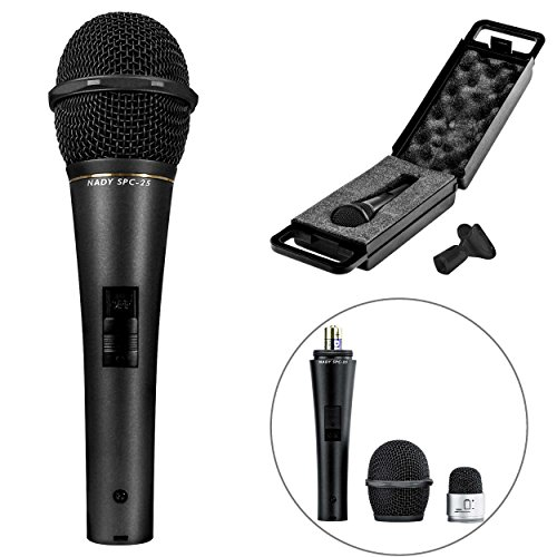 Nady SPC-25 Condenser Vocal Microphone - High sensitivity, cardioid pickup pattern, powered with AA battery or phantom power