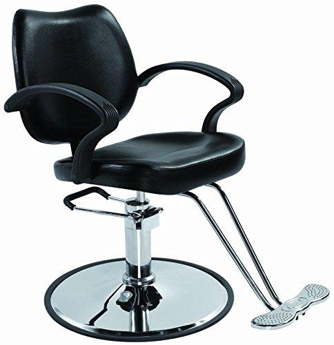 Black Classic Hydraulic Barber Chair Styling Salon Beauty 3W by BestSalon