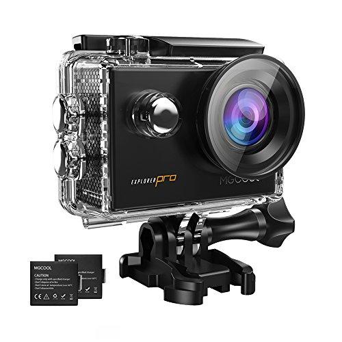 MGCOOL アクションカメラ4K ウェアラブルカメラ 高画質 WiFi搭載 30m防水 1600万画素 2インチ液晶画面二つのバッテリー ドライブレコーダーとしても利用可能 日本語説明書付属 一年保証の商品画像