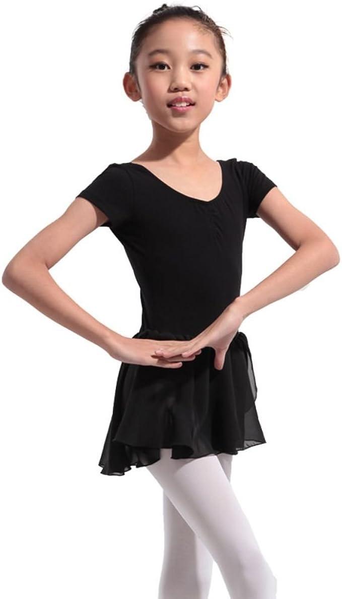 Black Ballet Leotard//Skirt.Short Sleeve Dress.Age 4-5,6-7 years.Skating Tutu.UK