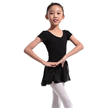 48f09053d Qlan Girls Kids Long Sleeve Gymnastics Dance Dress Stretchy Ballet Tutu  Leotard Skirt: Amazon.co.uk: Sports & Outdoors