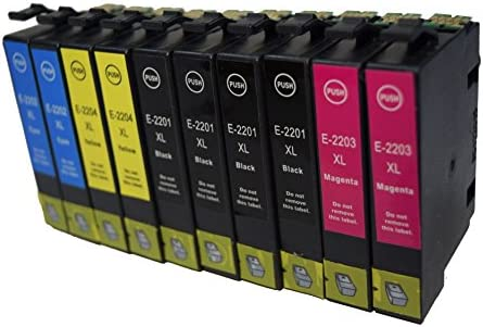 Generic - Cartuchos de tinta compatibles 10 Pk T220 220 EPSON T220 ...