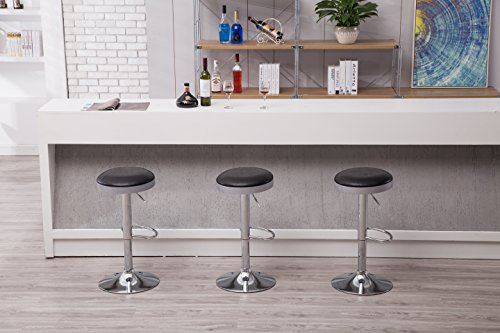 Boraam  Copley Backless Stool, 1-Pack, Adjustable Height, Black by Boraam (Image #6)