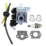 Savior RB-K85 Carburetor Fuel Line kit with Spark Plug Primer Bulb for Echo PB-251 PB-265L PB-265LN Power Blowers Carb A021001350