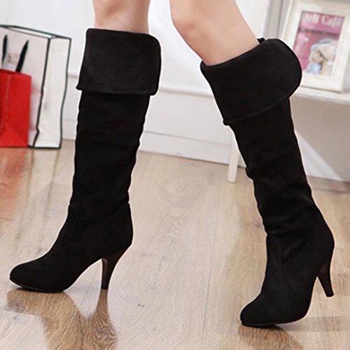 Black Boot AIYOUMEI Women's AIYOUMEI Classic Women's Classic Boot WRwqw08O4