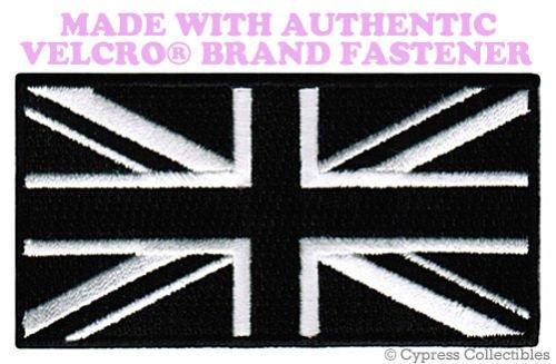 UK BLACK FLAG PATCH UNION JACK Great Britain ENGLAND w/ VELCRO Brand - Jack Jobs Uk Wills