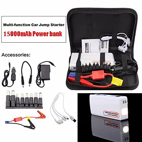 Portable Vehicle Car Jump Starter,15000mAh Multi-function Portable Compact Car Jump Starter Battery Charger Power Bank Booster