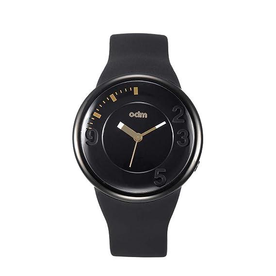 PAKITHEN Relojes Grandes Dial de Silicona Hombres y Mujeres Parejas Relojes de Cuarzo Relojes de Moda Simple Impermeable Reloj Creativo Concepto: Amazon.es: ...