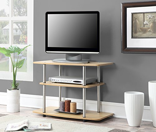(3-Tier TV Stand in Light Oak Finish)