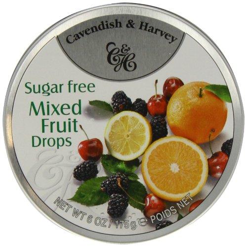 Bala de Frutas Zero Açúcar Cavendish & Harvey Lata 175g