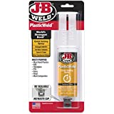 J-B Weld 50132 PlasticWeld Quick-Setting Epoxy Syringe - Dries Translucent Yellow - 25 ml