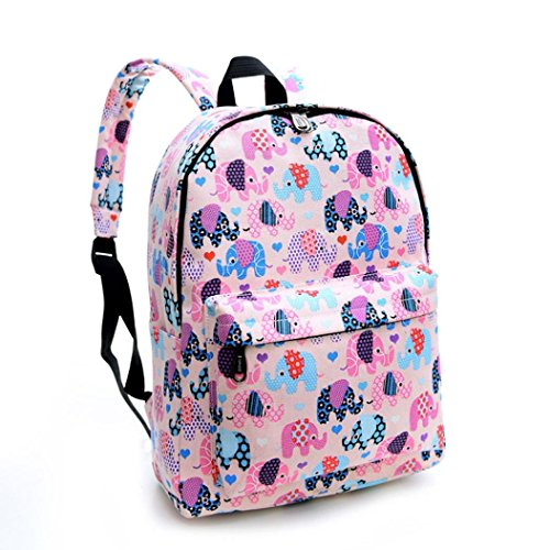 CanvasSchool Backpack Sagton Bags Women Pringting Elephant wpx0IqA