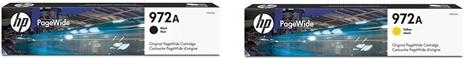 HP 972A | PageWide Cartridge | Black | F6T80AN & 972A | PageWide Cartridge | Yellow | L0R92AN