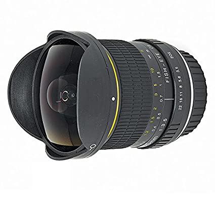 amazon com 6 5mm ultra wide f 3 5 fisheye manual focus lens for rh amazon com Webcam Manual Focus canon rebel t2i manual focus