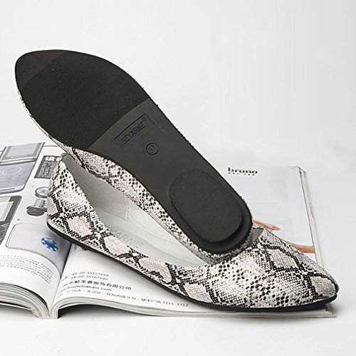 Shoes Comfortable Women's Slip Ivory Ballet Pointy BEYARNE Classic Casual Toe Flats On 1qzBAvwWH