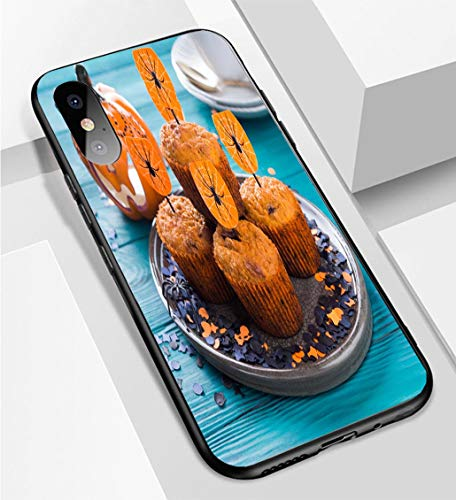 iPhone X/XS Ultra-Thin Phone case Pumpkin Muffins for Halloween Kids Party Anti-Drop Anti-Slip Soft Convenient Protective Shell]()