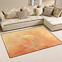 DEYYA Custom Non-slip Area Rugs Pad Cover 60 x 39 Inch,HOT TEA Pattern Throw Rugs Carpet Modern Carpet for Home Dining Room Playroom Living Room Decoration