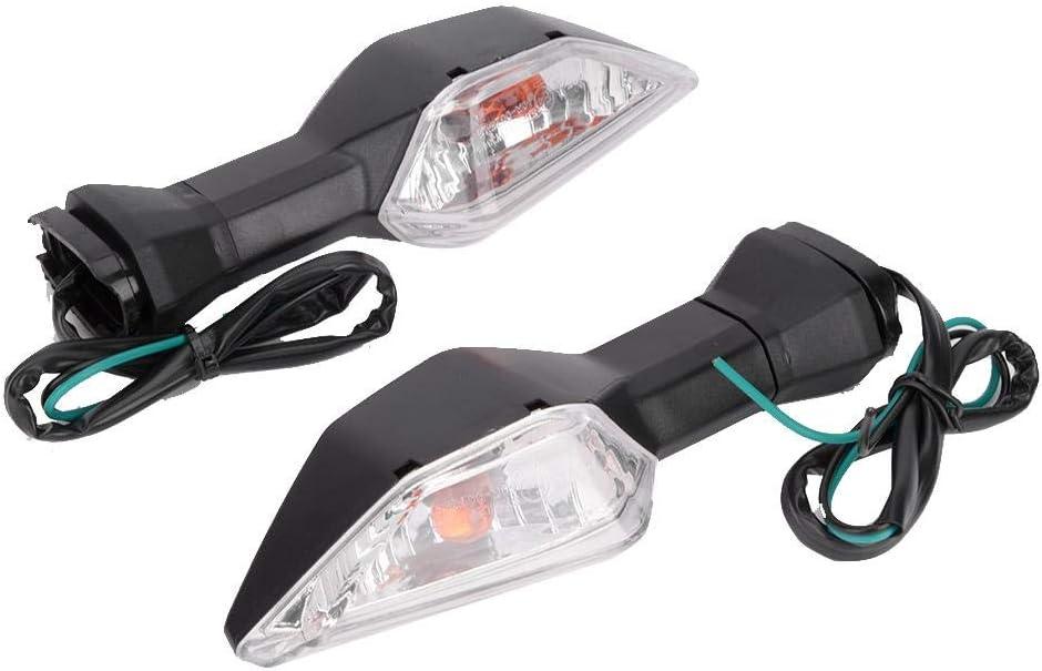 Transparent cover Motorcycle Turn Signal Lights Turn Light Motorcycle Turn Signal Light Indicator Fits for Ka/_wasakiz Ninja 400 650//VERSYS X300 2017 2018 2019//Z650//Z900