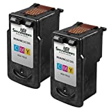 Speedy Inks - 2 Pack Canon CL-211XL High Yield Color Remanufactured Inkjet Cartridge for use in PIXMA iP2700, PIXMA iP2702 , PIXMA MP230, PIXMA MP240, PIXMA MP250, PIXMA MP270, PIXMA MP280