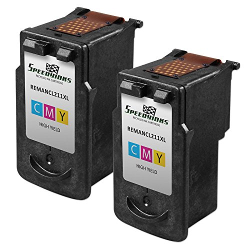 Speedy Inks - 2pk Canon CL-211XL HY Color Remanufactured Inkjet Cartridge for PIXMA iP2700 iP2702 MP230 MP240 MP250 MP270, PIXMA MP280 MP480 MP490 MP495 MP499 MX320 MX330 MX340 MX350 MX360 MX410 MX420 - Canon Pixma Mx320 Colour