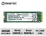 Timetec Micron Flash 480GB M.2 2280 SATA 6Gb/s Internal SSD(MTFDDAV480MBF)