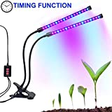 potted herb garden Dual-lamp Grow Light Autien 36LEDs 4 Levels 3 Modes Timing(3H/6H/12H) Plant Lights Bulbs Growing Lamps with 360 Degree Flexible Gooseneck for Indoor Plants Garden Greenhouse Tent Herbs Potted