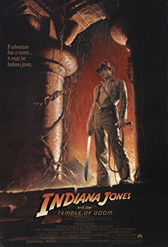 Indiana Jones And The Temple Of Doom 1984 Authentic 27  X 41  Original Movie Poster Rolled Fine  Very Good Harrison Ford Adventure Steven Spielberg U S  One Sheet