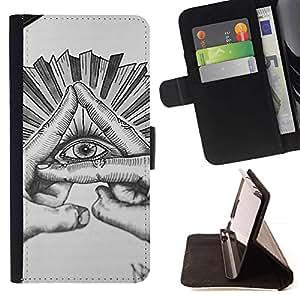 Momo Phone Case / Flip Funda de Cuero Case Cover - Mason Sketch Crayon - HTC One A9