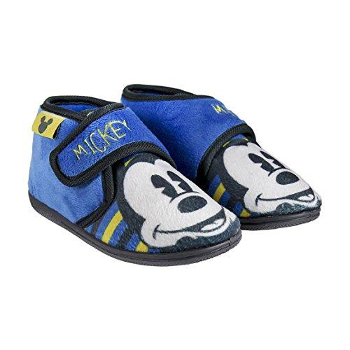 Zapatillas pantuflas forma botita Mickey Disney color Azul (Talla 22)
