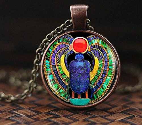 Egyptian Scarab Necklace, Scarab jewelry, ancient egypt jewelry, Egyptian jewelry, Scarab pendant, Egyptian Scarab, men's scarab necklace ()