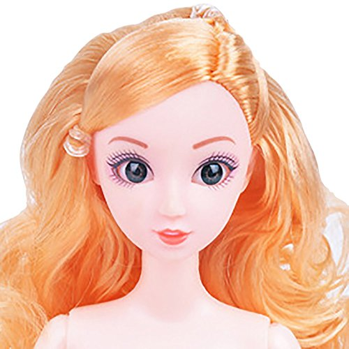 Digood 12 Inch Nude Doll Body with Head, Coerni 12 Jointed Can Be Changed Makeup and Dress DIY Toy (D) ()