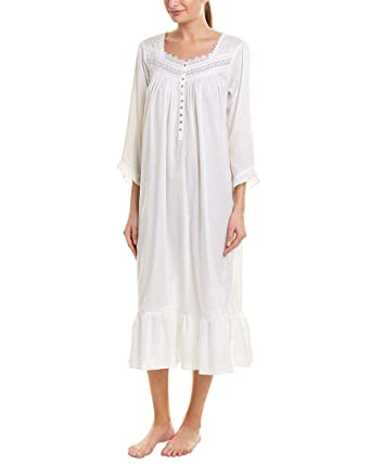 31718d87b8 Eileen West Women s Ballet Long Sleeve Nightgown White X-Small at ...