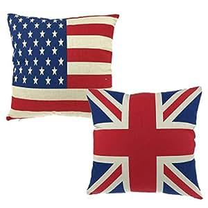 Amazon.com: Luxbon Par de de bandera Union Jack y Estados ...