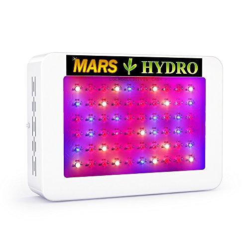 MarsHydro Mars 300W LED Grow Light Full Spectrum ETL Certification Lighting for Hydroponic Indoor Greenhouse Garden Plants Growing 132W True Watt Panel