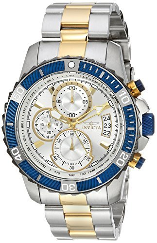 Steel Chronograph Divers Watch - Invicta Men's 'Pro Diver' Quartz Stainless Steel Casual Watch, Color Two Tone (Model: 23994)