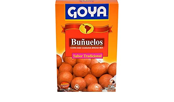 Amazon.com : Goya Foods Bunuelos Traditional Corn and Cassava Bread Mix, 14.1 Ounce (Pack of 20) : Grocery & Gourmet Food
