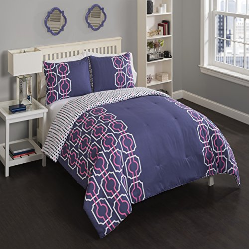 Vue Piper Comforter Set, Pink, Twin X-Large