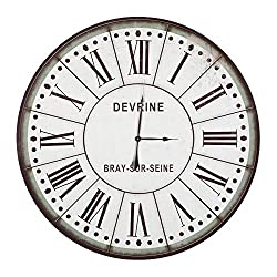 Yosemite Home Decor CLKB1404172 Circular Wall Clock, 48