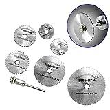 Tiptiper 7Pcs Cut Off Drill Rotary Tools HSS Metal Circular Saw...
