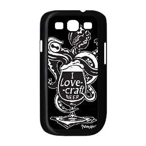 Samsung Galaxy S3 9300 Cell Phone Case Black_I LOVE CRAFT BEER Jkcge