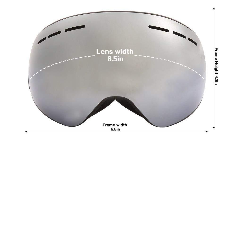 Gafas De Esqui HombreGafas De Esquí Con Lentes Magnéticas Antiniebla Gafas Esféricas Big Vision Ski Mascarilla Gafas Gafas De Esquí Para Mujeres Hombres