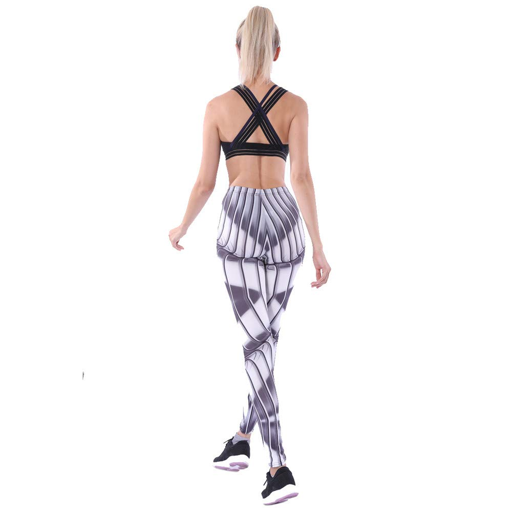 Mr.Macy Women High Waist Yoga Pants,Printed Sports Gym Running Fitness Leggings Gray by Mr.Macy (Image #5)
