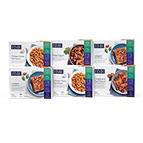 HMR Pasta Lover's Entree Variety Pack:1 ea Cheese&Basil Ravioli w/Tomato Sauce, Pasta Fagioli; 2 ea Chicken Pasta Parmesan, Lasagna w/Meat Sauce, 8 oz. Serving, 6 Count